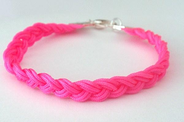 bracelet fin or rose