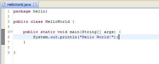 hello world java