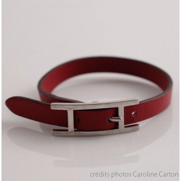 bracelet homme cuir et argent