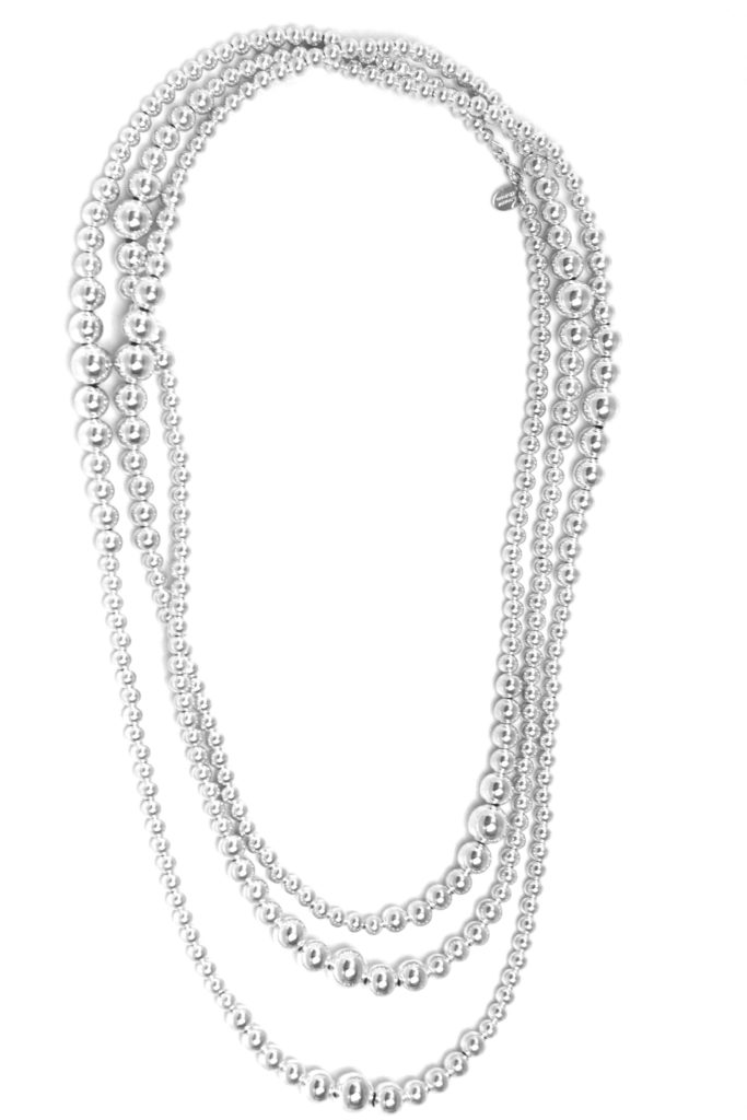 collier sautoir perles fantaisie