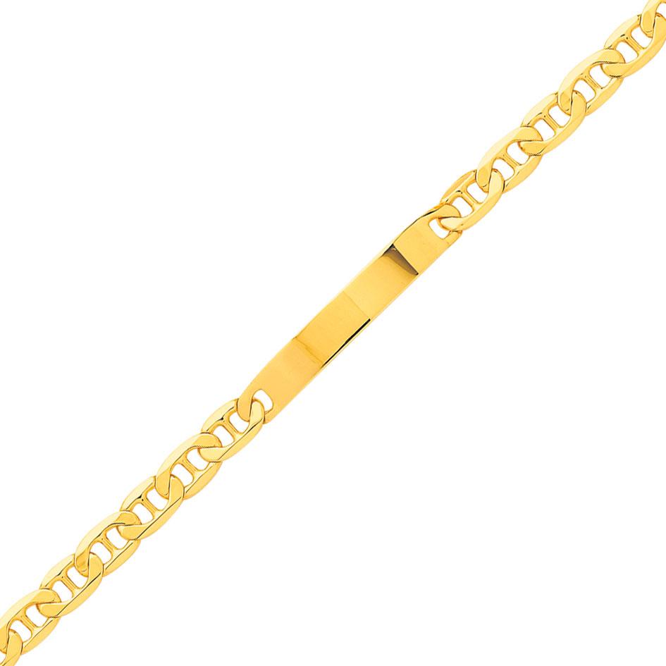 bracelet or jaune maille