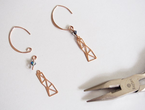 boucles oreilles pendantes or