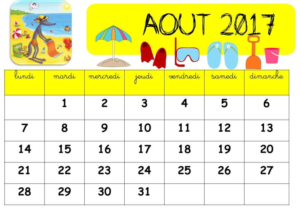 calendrier mois par mois gratuit