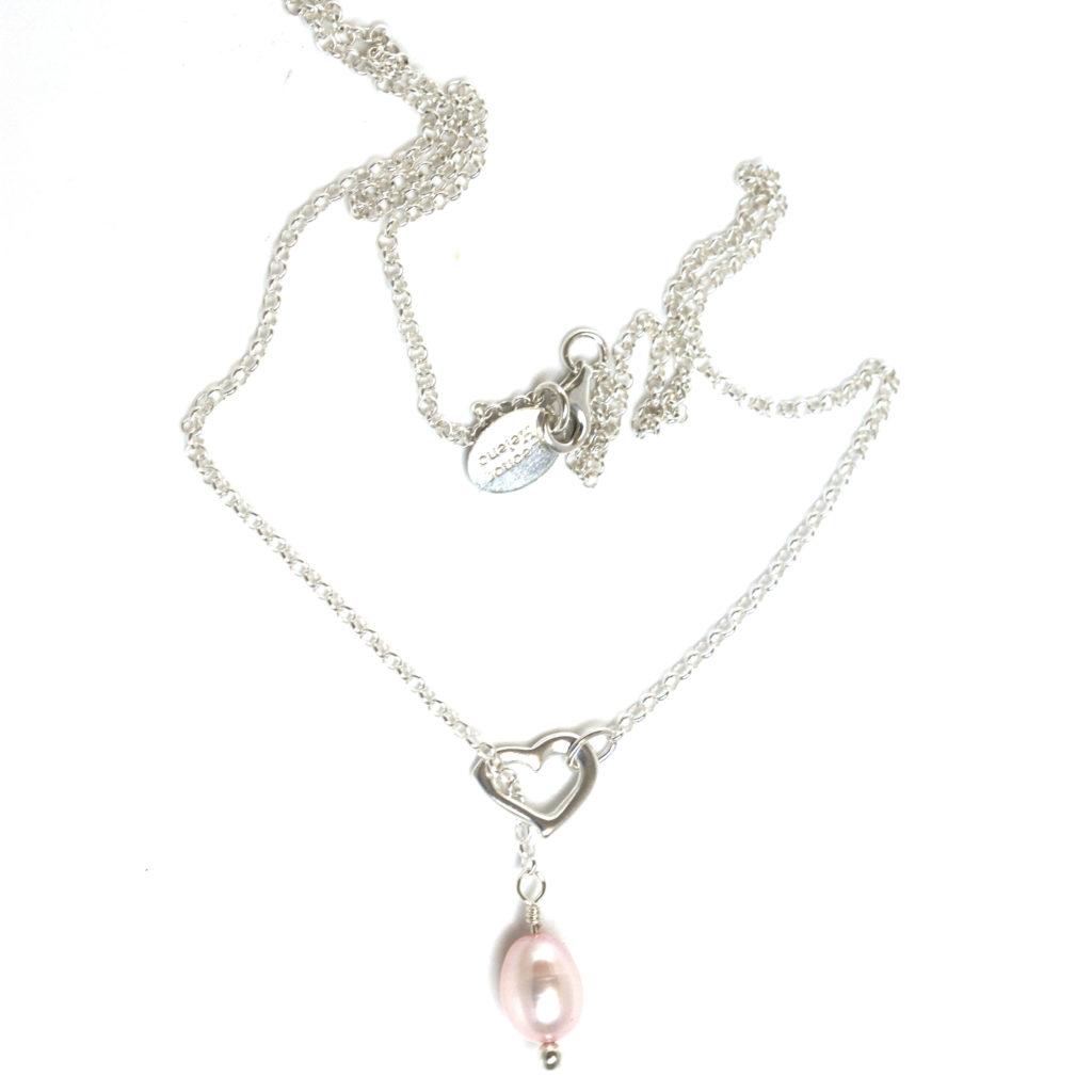 collier perle argent