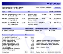confirmation billet d'avion air france
