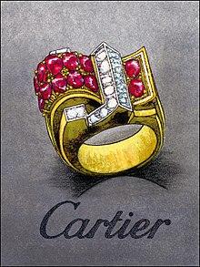 bague cartier or