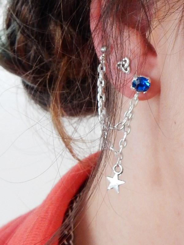 boucles d oreilles strass