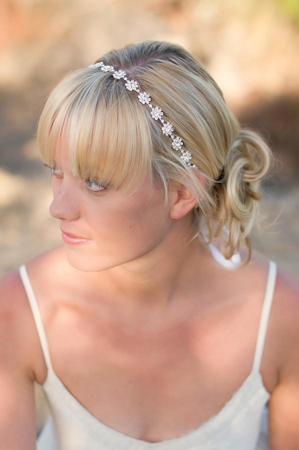 bijoux pour cheveux courts mariage