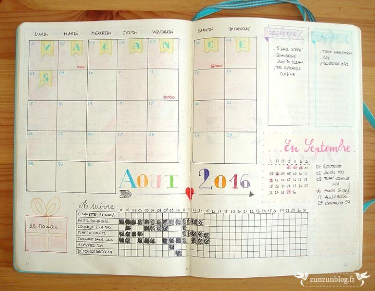 carnet calendrier