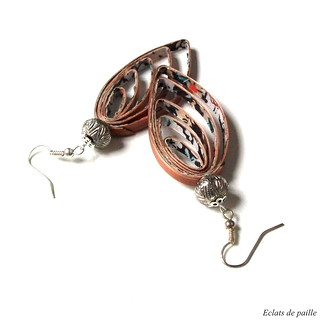 boucles d'oreilles pendantes en or