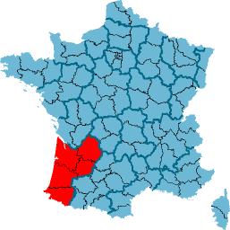 carte région bordeaux aquitaine